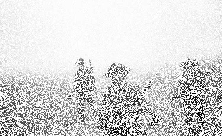 military soldiers obscured by smoke